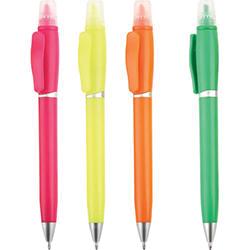 Kapaklı Fosforlu Çevirmeli Tükenmez Kalem