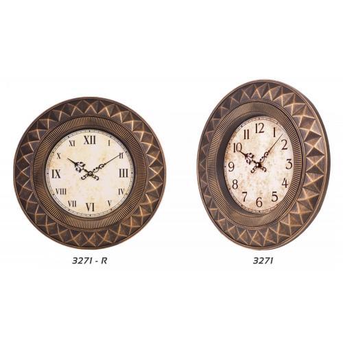 Eskitme Boyalı Duvar Saati