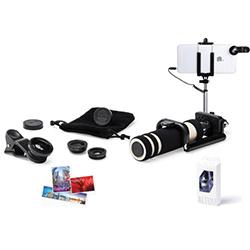 Selfie Çubuklu Cep Telefonu Lens Seti