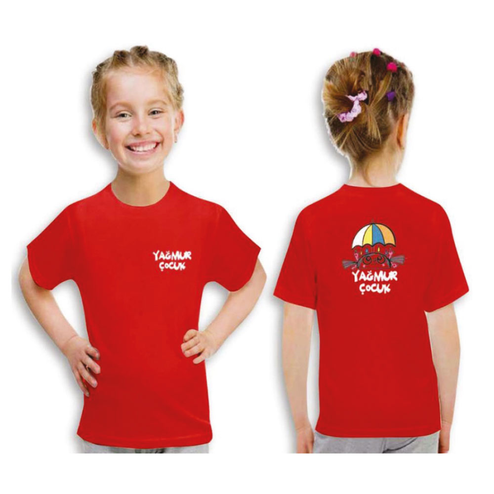 Kırmızı Çocuk T-Shirt